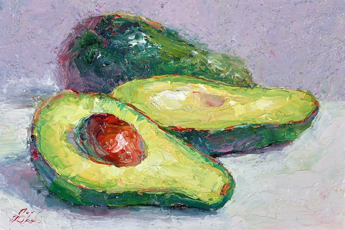 Avocados II by lana okiro -  sized 9x5 inches. Available from Whitewall Galleries